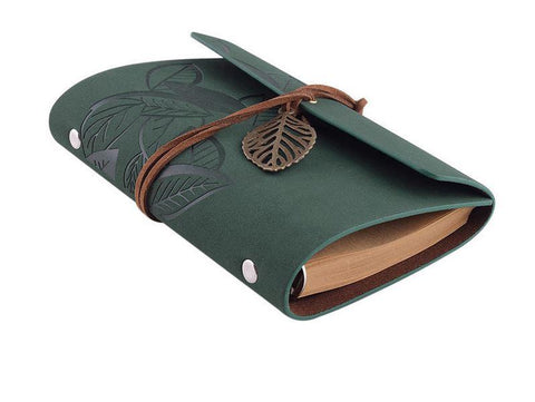 Embossed Wrap Journal - Forest Green
