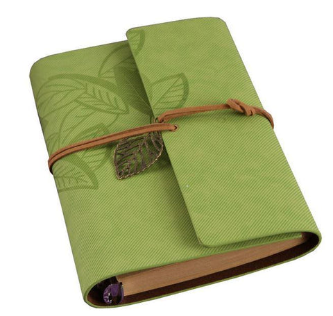 Embossed Wrap Journal - Lime