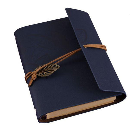 Embossed Wrap Journal - Navy