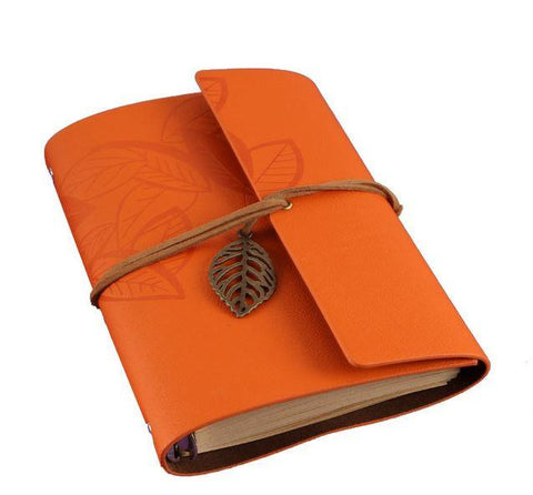 Embossed Wrap Journal - Orange