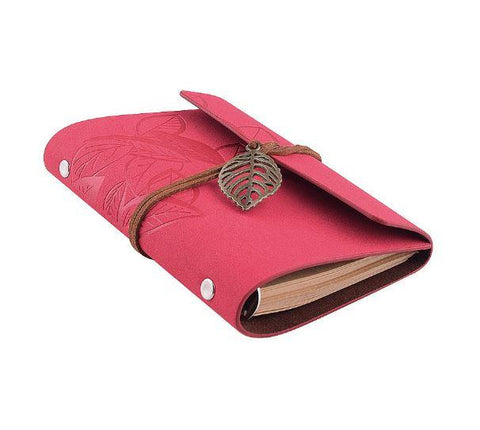 Embossed Wrap Journal - Pink