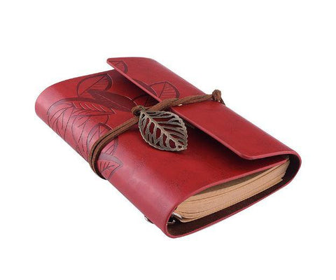 Embossed Wrap Journal - Red