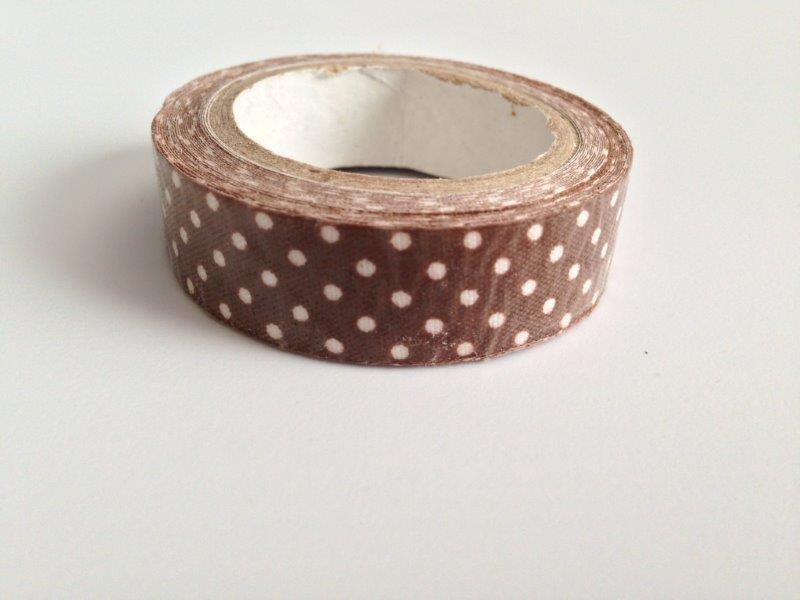 Fabric Tape - Brown Dots