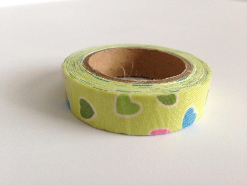 Fabric Tape - Color Hearts Green