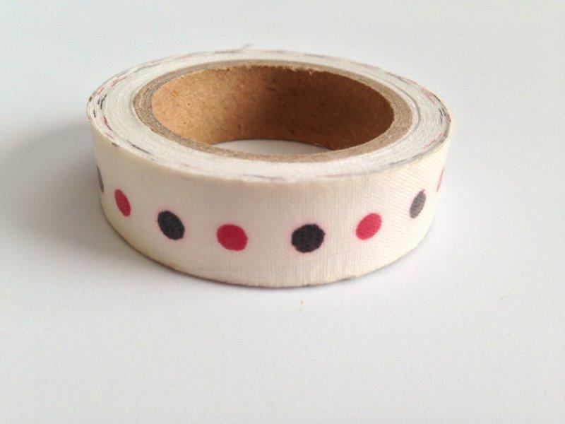 Fabric Tape - Dots Black Red
