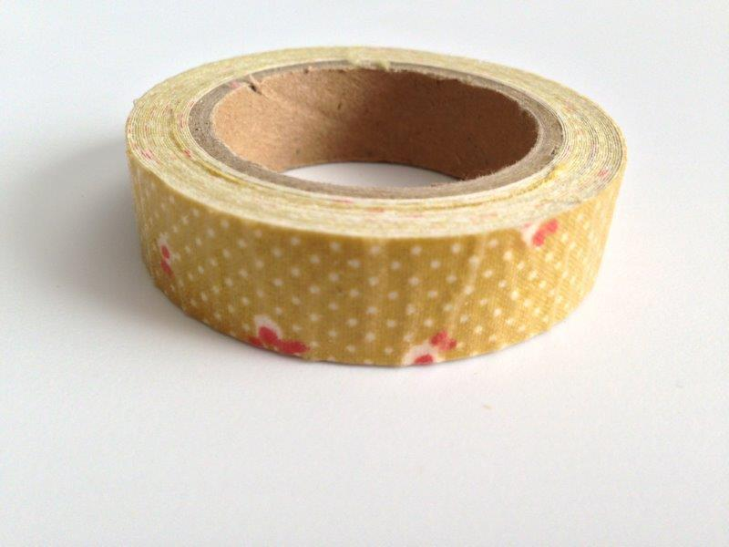 Fabric Tape - Floral, Dots Mustard
