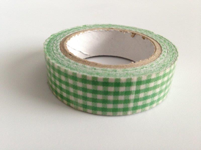 Fabric Tape - Plaid Green