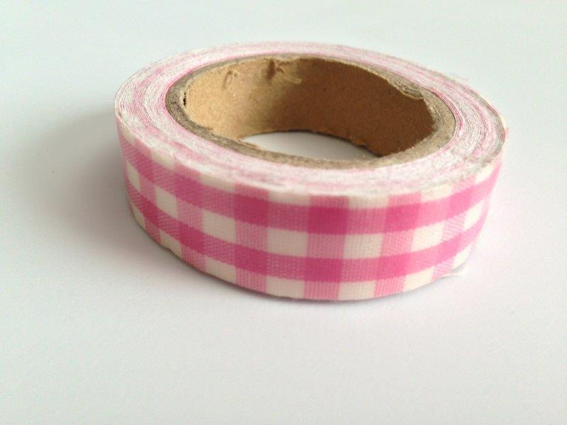 Fabric Tape - Plaid Pink