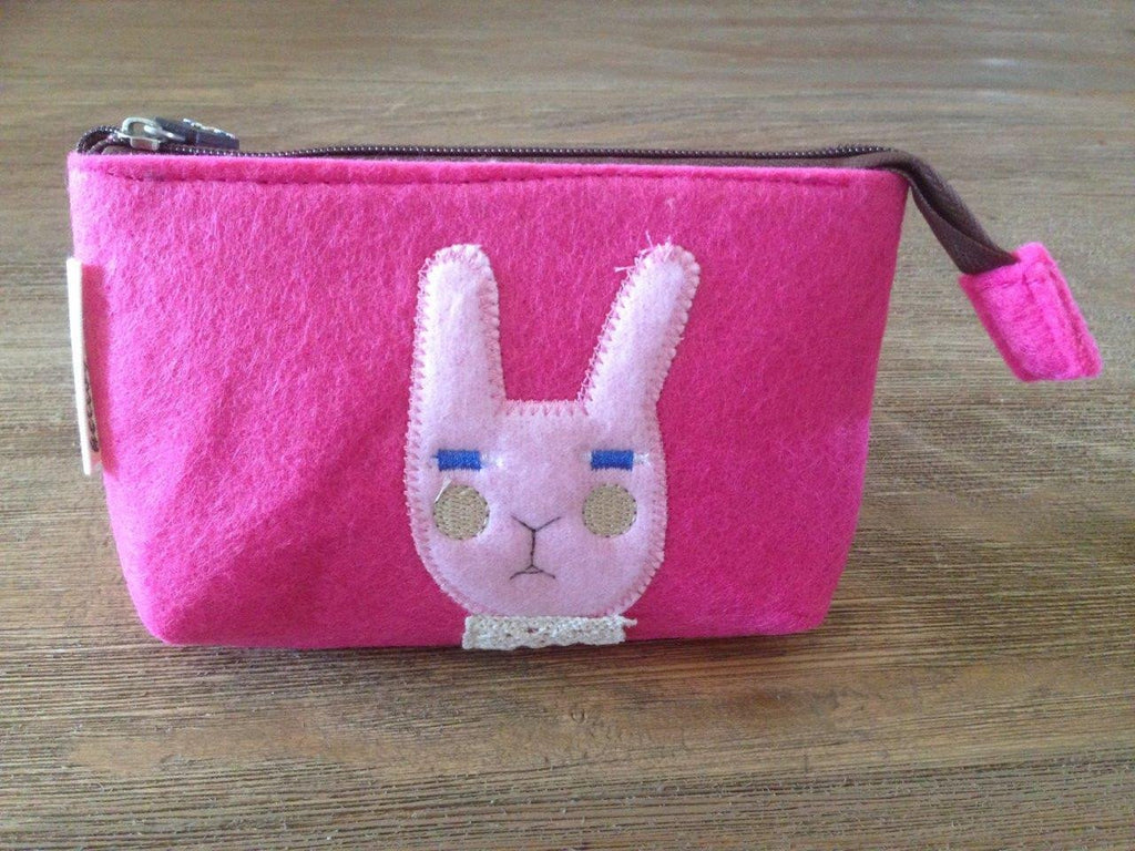 Felt Makeup Bag Rabbit Pink