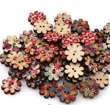 Flower Shaped, Floral Mix, 10