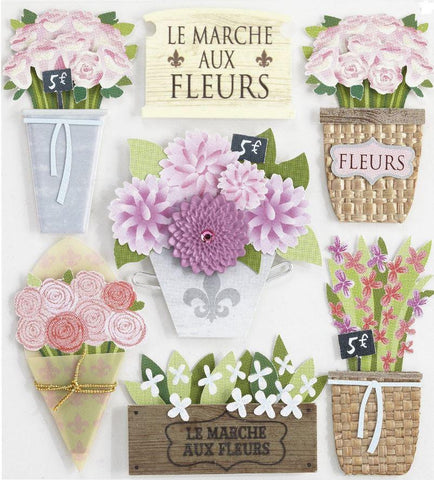 Jolee's Boutique - Around the World Collection - 3D Flower Market