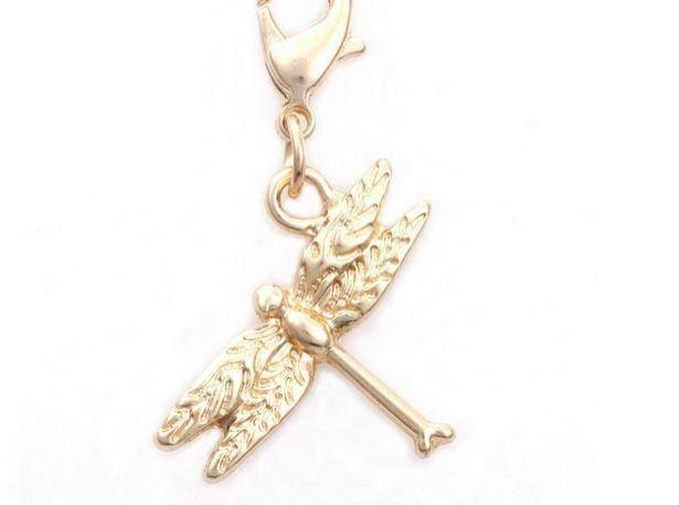 Gold Dragonfly Pendant Tag