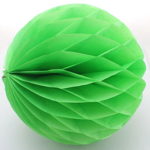 Honeycomb Tissue Flower Pom-Poms Green - Set of 3