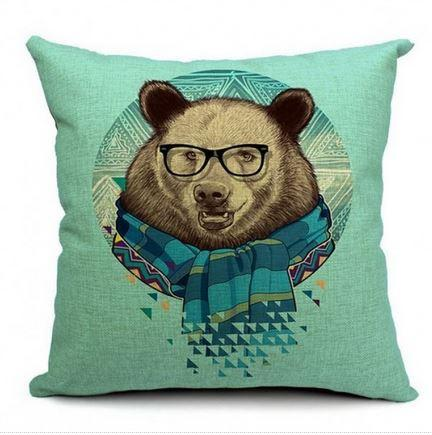Funky Brown Bear with Scarf