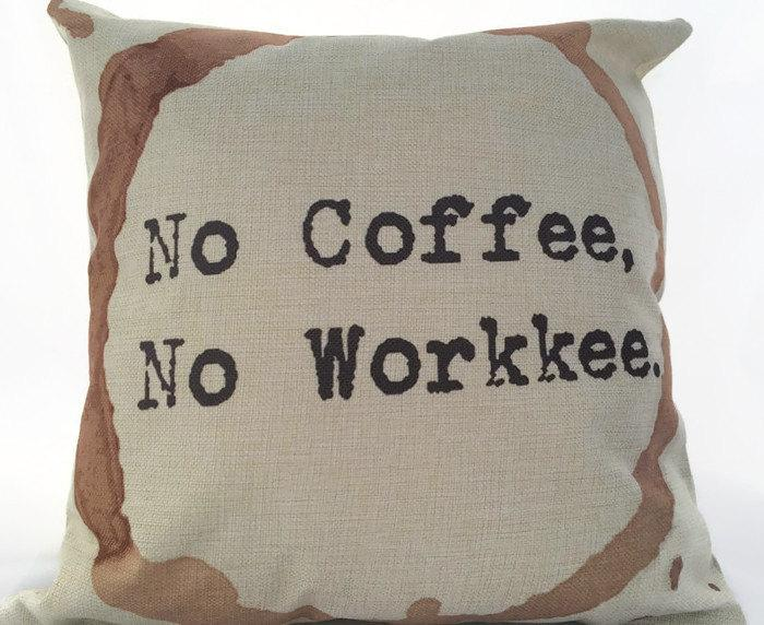 No Coffee, No Workkee, Coffee Stain