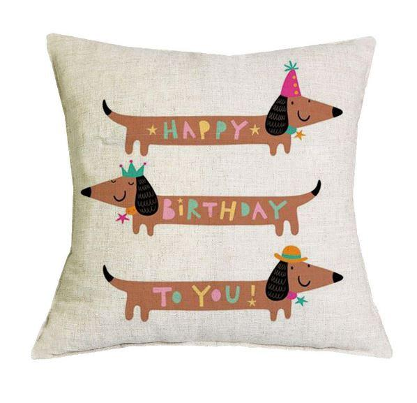 Dachshund Happy Birthday Banner
