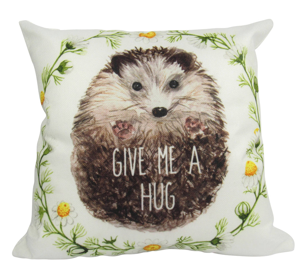 Give Me a Hug Watercolor Hedgehog Porcupine