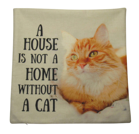 A House is not a Home without a Cat on Beige