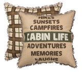 "Cabin Life 18"" Square Pillow & Insert"
