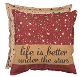 "Life is Better Under the Stars 20"" Square Pillow & Insert"