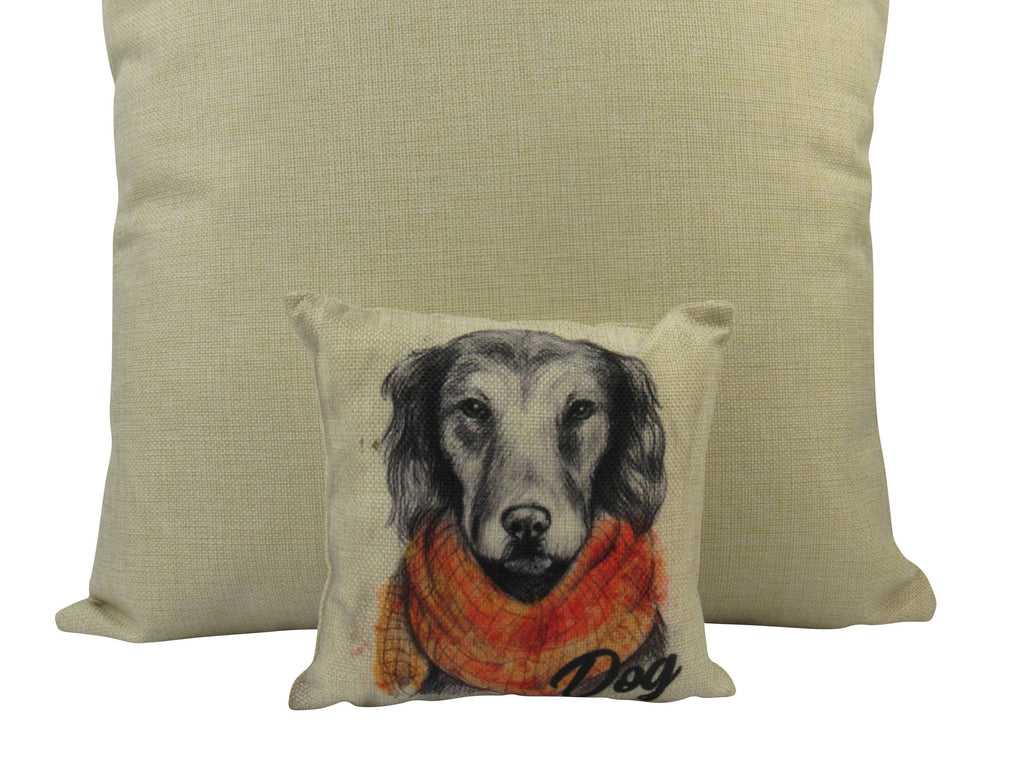 MINI: Pencil Sketch Dog 8x8 inch  PIllow & Insert