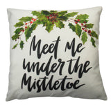Meet me under the Mistletoe with Holly on White
