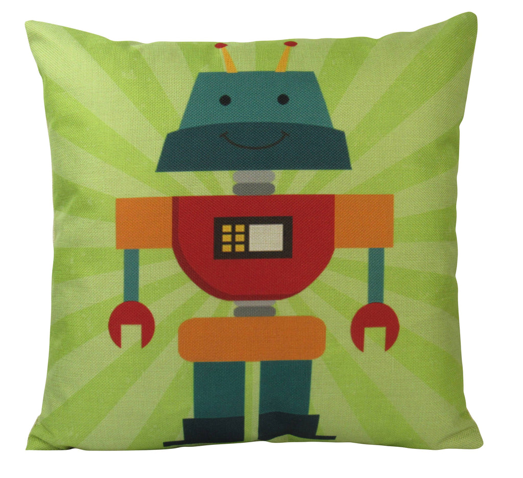 Retro Robot on Lime Green