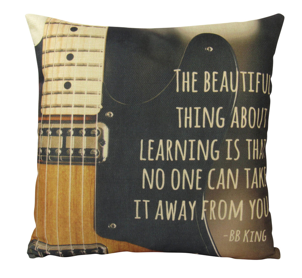 The Beautiful Thing about Learning is That no one can take it away from you  BB King