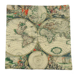 MINI: Vintage World Nautical Map 8x8 inch  Pillow & Insert