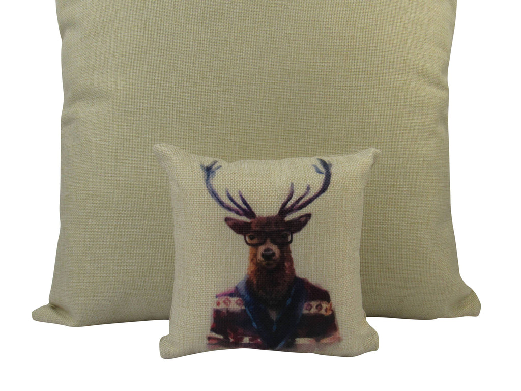 MINI: Hipster Elk   8x8 inch  PIllow & Insert