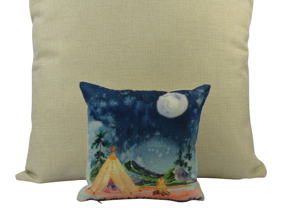 MINI: Meet Me By The Campfire 8x8 inch  Pillow & Insert