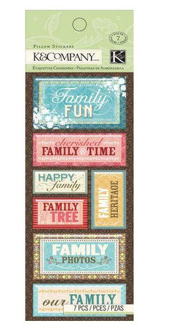 Family Members Pillow Stickers