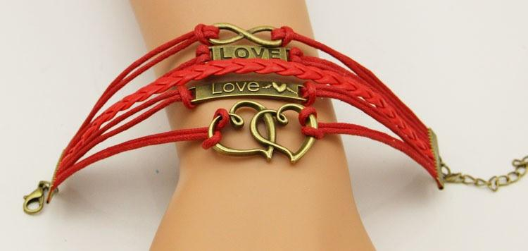 Love Gold, Hearts, Infinity - Red