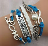 Love - White - Blue - Infinity - Believe
