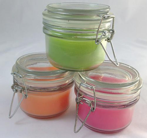 Mason Jar Candles - Tri Color
