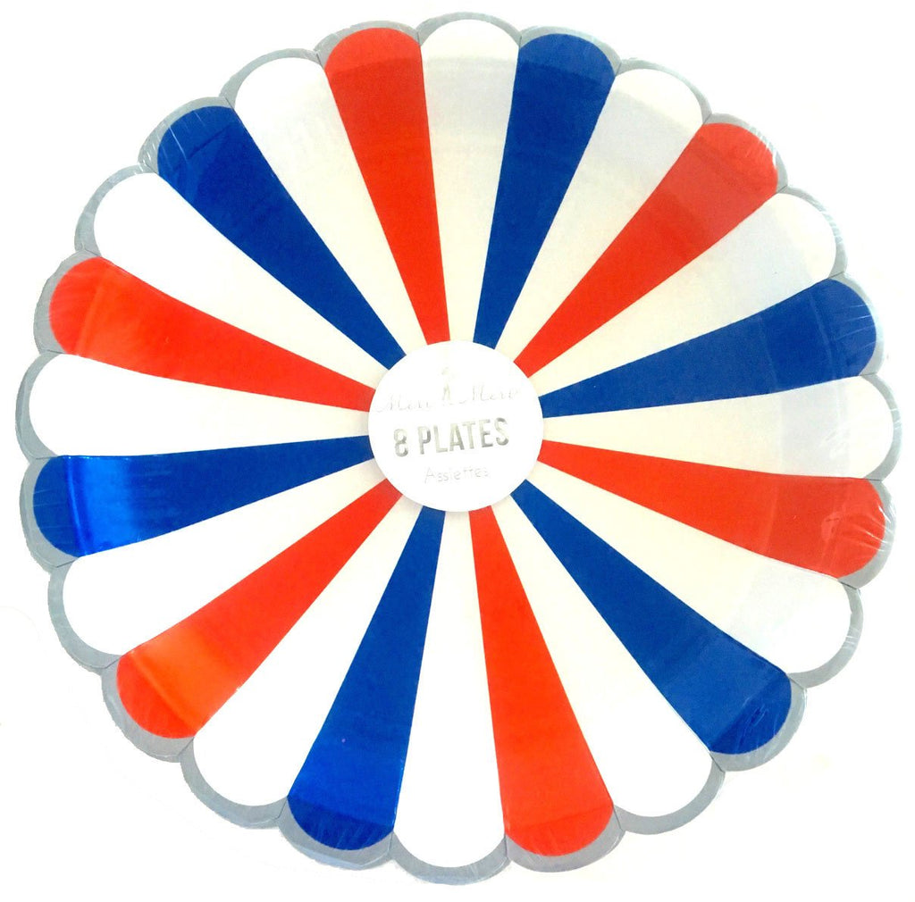 Meri Meri Round Striped Plates  (8)