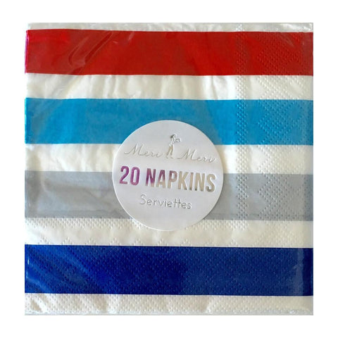 Meri Meri - Striped 4th of July Napkins (20)