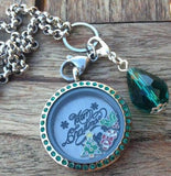 Merry Christmas Locket Set, Emerald- 30mm