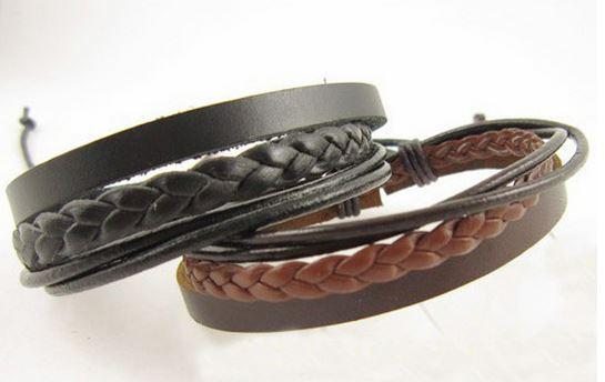 Natural Brown Stylish Leather Bracelet