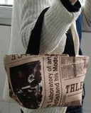 Newspaper Print Tote