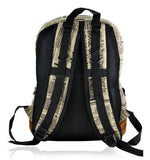 Newspaper Print, Brown Tones Backpack