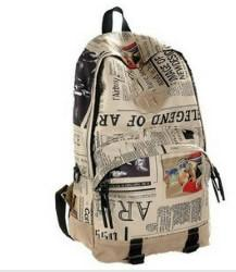 Newspaper Print, Light Tan Tones Tote