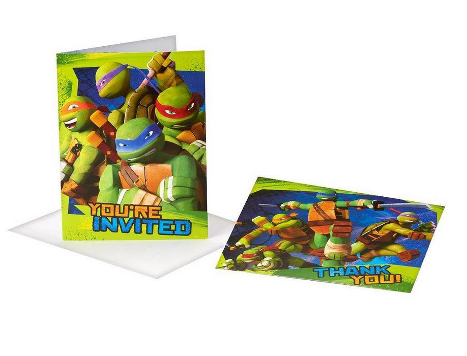 Teenage Mutant Ninja Turtles Birthday Invitations and Thank You Postcards (8)
