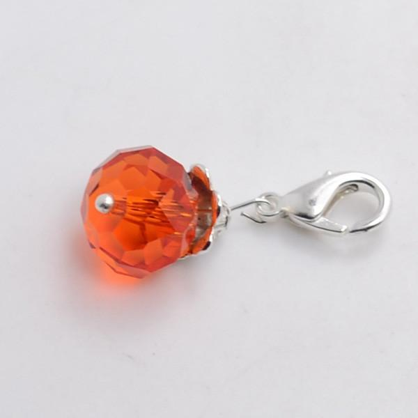 Orange Crystal Pendant Tag