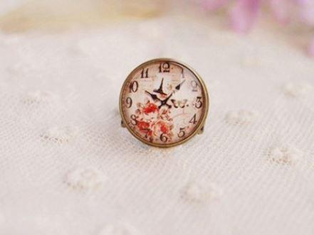 Rose Buds Clock Face
