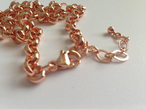 "Rose Gold 18"" Rolo Link Chain"