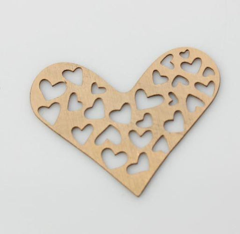 Rose Gold Heart Cutouts