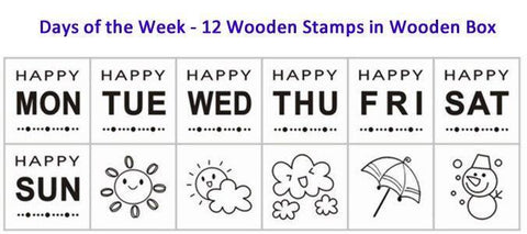 Stamptopia in Wooden Box- Days of Week