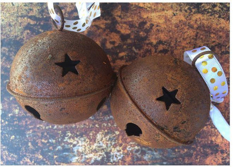 "Rusted Jingle Bells 2.75""  (2)"