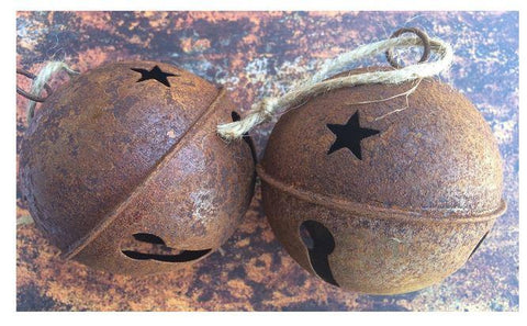 "Rusted Jingle Bells 3.3""  (2)"